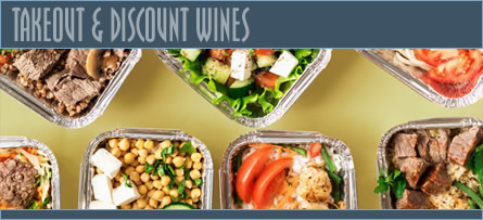 Takeout Menu, Large Format Takeout Menu & Discounted Wines